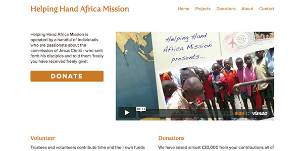 Hand Helping Africa Misson Home Page
